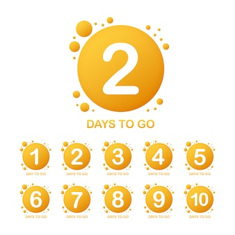 Promotional banner with number of days to go sign.  illustration.