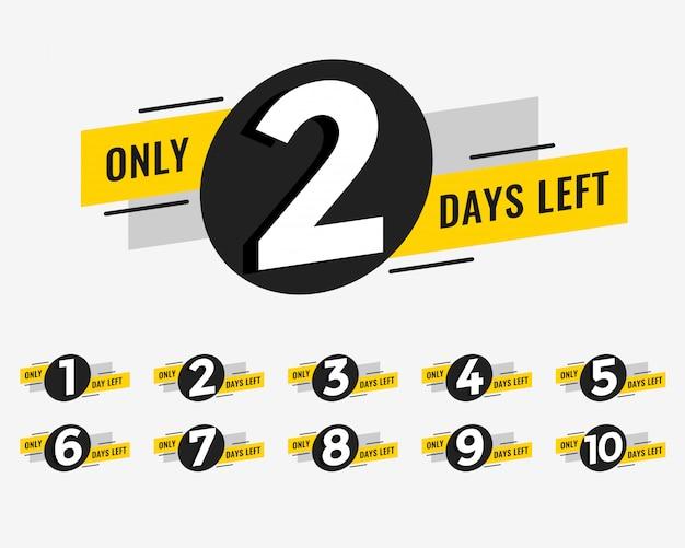 Рекламный баннер с указанием количества дней