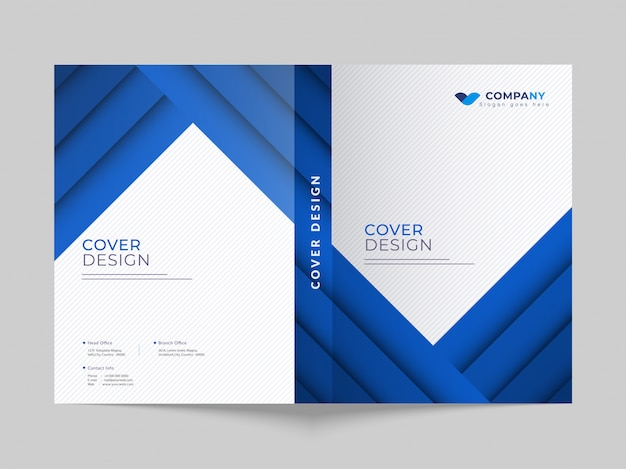 Promotional business cover page layout for corporate sector.