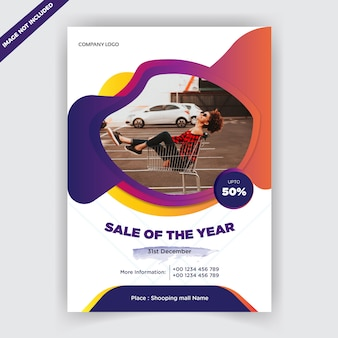 Promotional business sale flyer template