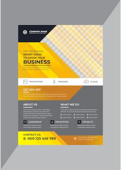 Promotional corporate business flyer design template