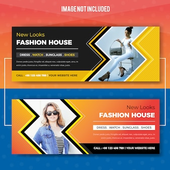 Promotional fashion house web banner