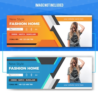 Promotional fashion store web banner