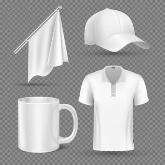 Promotional items vector set mockup