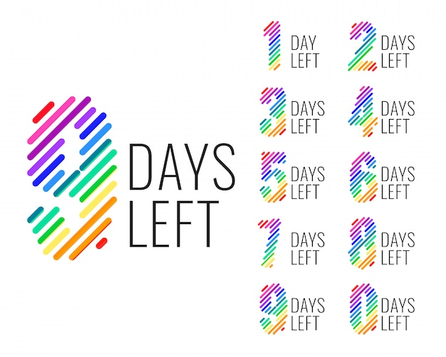 Promotional number of days left countdown banner