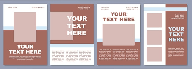프로모션 제안 브로셔 템플릿입니다. 마케팅 전략. 전단지, 소책자, 전단지 인쇄, 복사 공간이 있는 표지 디자인. 당신의 글은 여기에. 잡지, 연례 보고서, 광고 포스터용 벡터 레이아웃