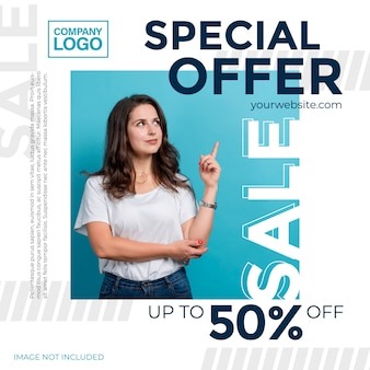 Promotional offers. template for the design of promotions for social media
