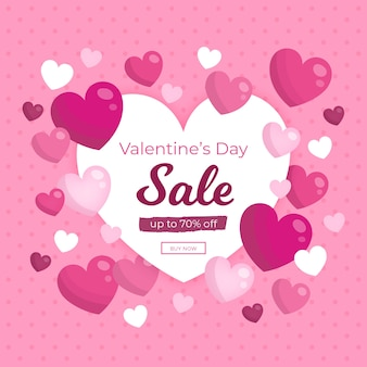 Promotional sale campaign on valentines day