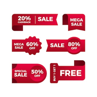 Promotional sales label collection