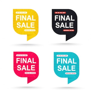 Promotional tags for special offers set.