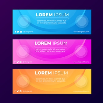 Promotional web banners design template