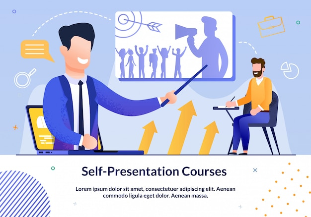 Prompt poster written self-presentation courses.