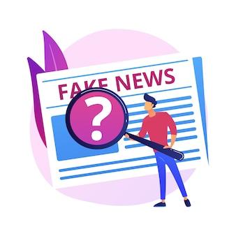 미디어의 선전. 뉴스 조작, 오해의 소지가있는 정보, 사실 조작. 잘못 알고있는 사람들, 허위 정보가 퍼졌습니다. 사기 저널리즘.
