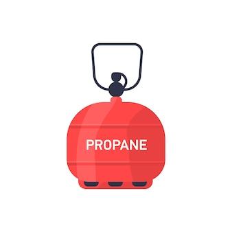 プロパンボンベ、タンクのベクトル図。圧縮および液化天然ガスを使用したガス気球。エネルギー、白い背景で隔離の業界のシンボル。可燃性物質、家庭用燃料。