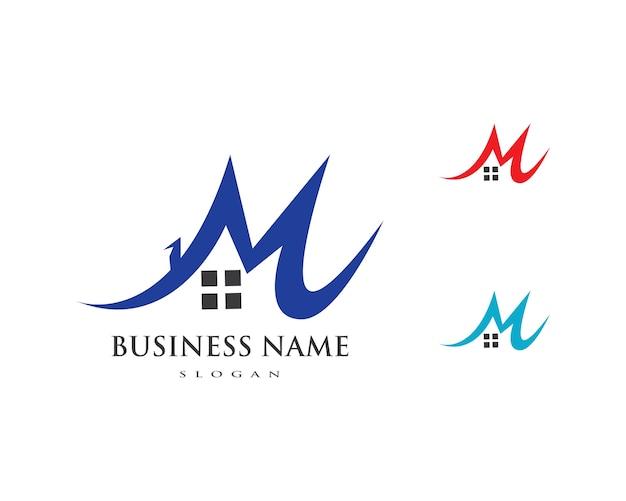 プロパティと建設ビジネスコーポレートサインのロゴデザイン