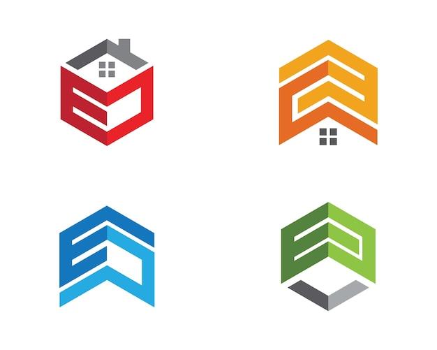 プロパティと建設ロゴデザイン