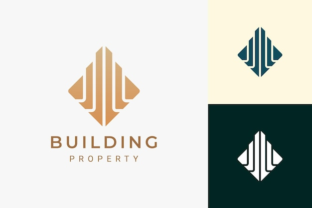 Property or apartment logo for real estate in luxury and abstract shape