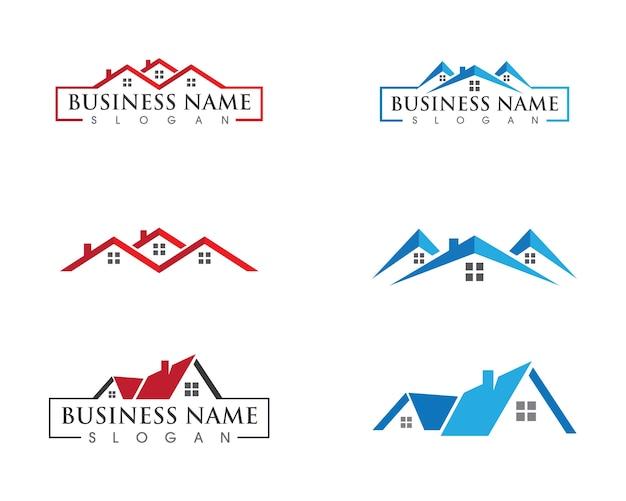 Property and construction logo design Premium Vector