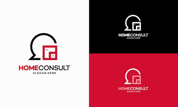 Property consult logo designs concept vector, house consulting agent logo template, real estate logo symbol