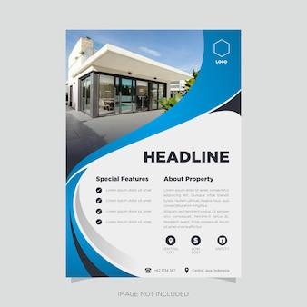 Property flyer design vector template