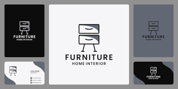 プロパティインテリア家具ロゴデザインベクトル