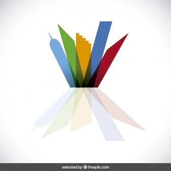 Логотип недвижимость со строительными формами