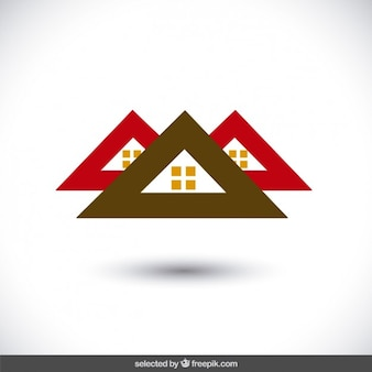 Property logo with three roofs