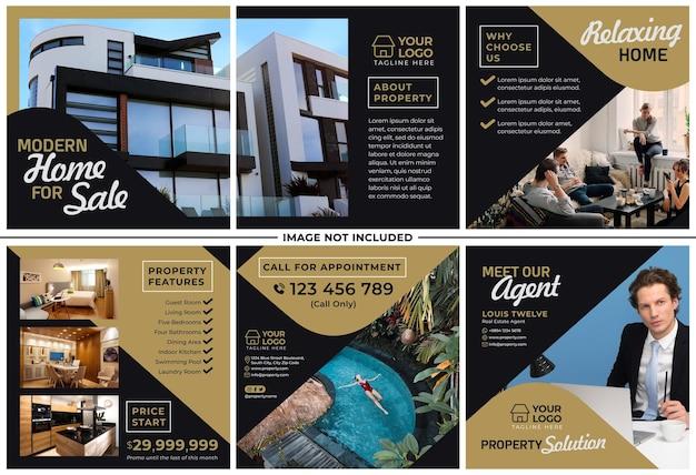 Property promotion instagram post set