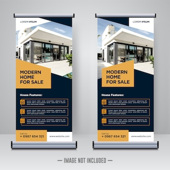 Property, real estate roll up or x banner template