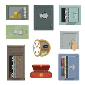 プロパティのセキュリティの概念白い背景で隔離のイラスト