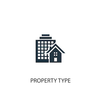 Property type icon. simple element illustration. property type concept symbol design. can be used for web and mobile.