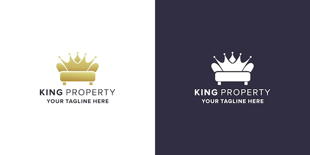 Property with king logo design