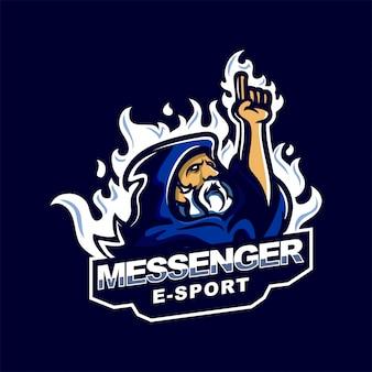 Prophet messenger e-sport gaming mascot logo template