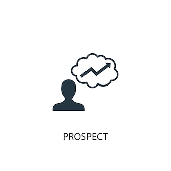 Prospect icon. simple element illustration. prospect concept symbol design. can be used for web and mobile.
