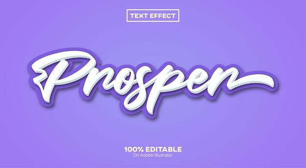 Редактируемый текстовый эффект prosper script