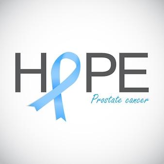 Осведомленность рака простаты голубой лентой векторные иллюстрации eps10