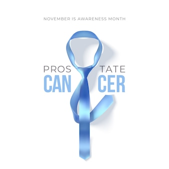 Месяц осведомленности о раке простаты. голубая лента изолирована. концепция здравоохранения мужчин.