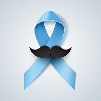 Prostate cancer ribbon awareness for movember