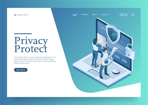 Protect data and confidentiality safety and confidential data protection concept with character