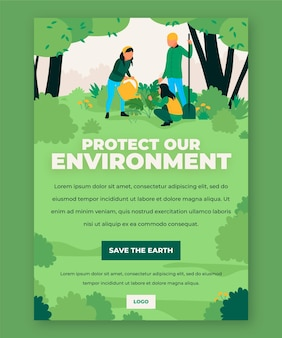 Protect our environment flyer template