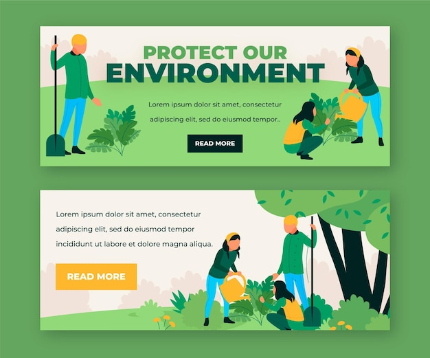 Protect our environment social media banners