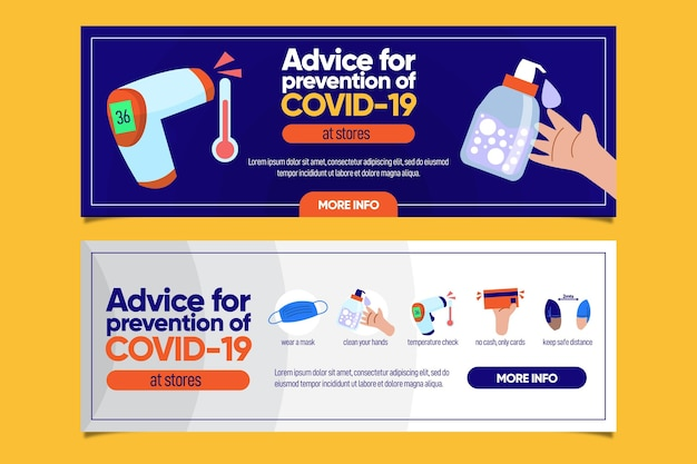 Protect yourself against coronavirus banner