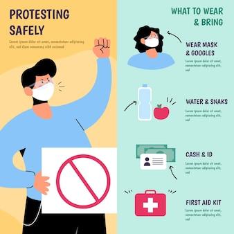 身を守り、安全に抗議