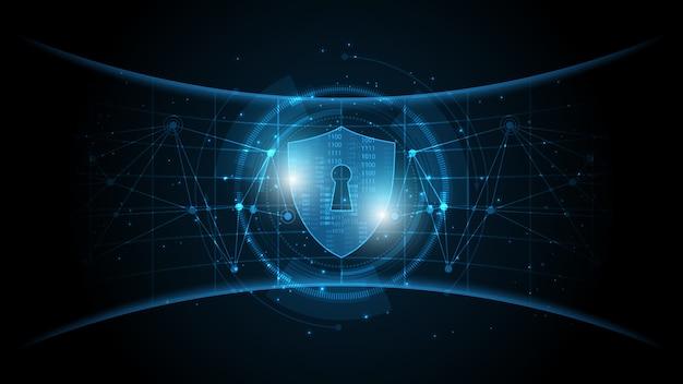 보호 가드 방패 보안 개념 보안 사이버 디지털 추상 기술 배경