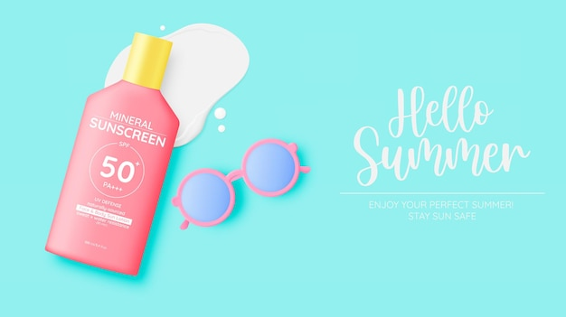 Protection cosmetic products design,sunscreen and sunbath cosmetic products design