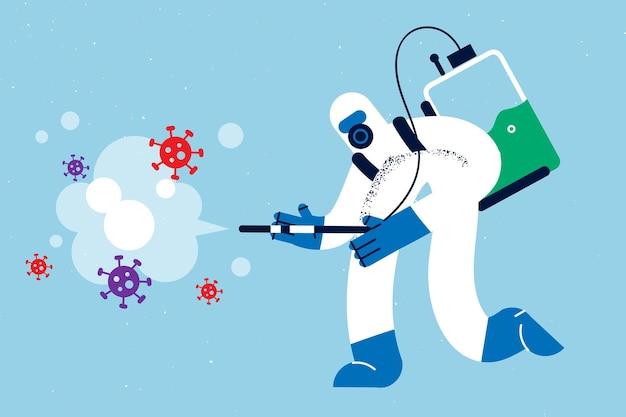 전염병 개념 동안 바이러스로부터 보호