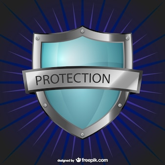 Protection logo with shield