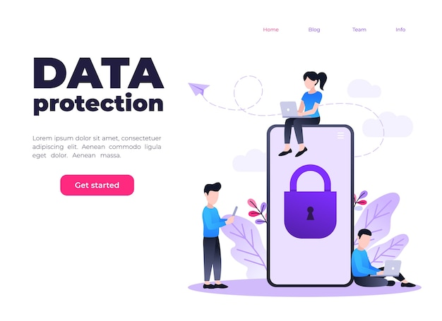 Protection of mobile data and personal information, mobile phone with lock