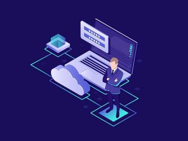 Protezione dei dati personali, archiviazione cloud delle informazioni, autorizzazione dell'utente, archiviazione cloud