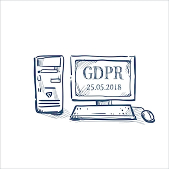 Protection of personal data computer